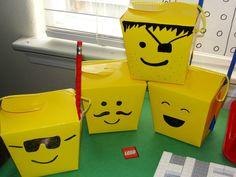 lego treat box for the boys lego party