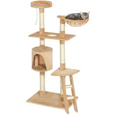 Best Choice Products Pet Play House 59' Cat Tree Scratcher Condo Furniture, Beige ** You can find out more details at the link of the image. (This is an affiliate link and I receive a commission for the sales)