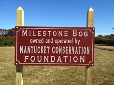 Another beautiful new Nantucket Conservation Foundation sign