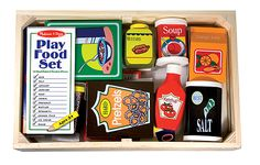 Wooden Play Food Set | Toys for 3-4 year olds | Melissa and Doug