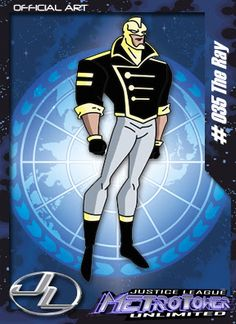 The Ray-Membro da Liga da Justiça. Aparece apenas como figurante na série.