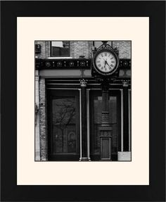 Clock Stand Framed Print, Black, Contemporary, Black, Cream, Single piece, 8 x 10 inches, White