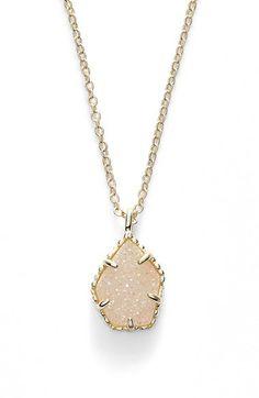 Kendra Scott 'Catherine' Drusy Pendant Necklace
