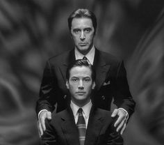 """Al Pacino and Keanu Reeves in """"The Devil's Advocate"""", 1997"""