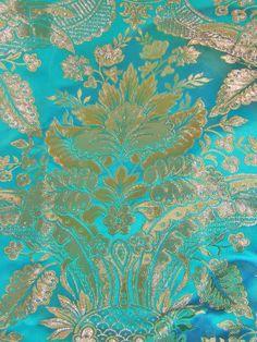 telas de fallera verde azulado