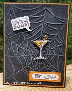 HALLOWEEN CARD KIT, HANDMADE STAMPIN' UP SPIDER WEB, MAKING SPIRITS BRIGHT #HandmadeStampinUp #Halloween