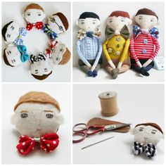 """While She Naps: 4 doll makers you should know about.  """"Sometimes when we strive to make a professional product we forget how special it is to see the little stitches that make up an eyebrow. In fact, the evidence of the maker's hand is why handmade dolls are so special """""""