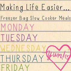Freezer meals for the slow cooker... #bulkcooking