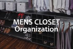 Learn easy and best ways to organize a men's closet. Plus, get wardrobe tips too! Mens Closet Organization, Organization Hacks, Men Closet, Closets, Organize, Bedrooms, Easy, Tips, Home Decor