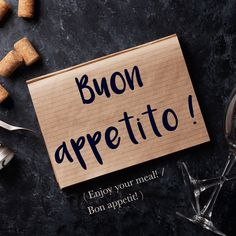 Frase della settimana / Phrase of the week: Buon appetito! (Enjoy your meal!) To find out more about this phrase and hear the pronunciation, visit Daily Italian Words! #italian #italiano #italianlanguage #italianlessons Italian Phrases, Italian Words, Italian Quotes, Italian Language School, Spanish Language Learning, Korean Language, Japanese Language, Teaching Spanish, Italian Lessons
