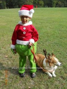 coolest diy grinch costume - Baby Grinch Halloween Costume