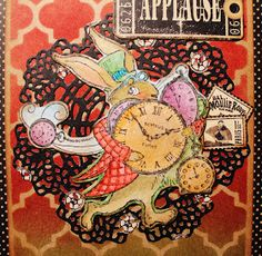 Scrapbook Flair: Pam Bray Designs: Applause....Hare in A Hurry with Deflecto and Stampendous