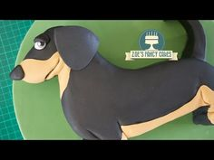 (294) Dachshund cake sausage dog simple birthday cake tutorial - YouTube