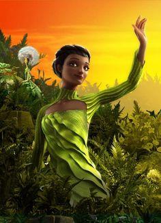 Beyonce as queen Tara in Epic movie
