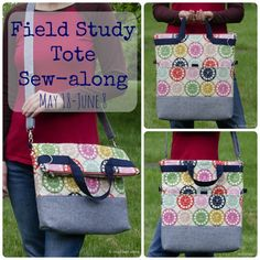 Field Study Tote Sew-along: Schedule and Prizes - Betz White Bag Patterns To Sew, Sewing Patterns, Adirondack Chair Plans Free, Quilted Bag, Kids Bags, Craft Storage, Beautiful Bags, Bag Making, Purses And Bags