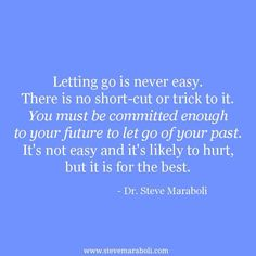 Letting go it's never easy