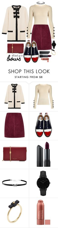"""""""All Tied Up in Bows"""" by maggiesinthemoon on Polyvore featuring Boutique Moschino, See by Chloé, River Island, Thom Browne, Marc Jacobs, Bite, Giani Bernini, CLUSE and Marc by Marc Jacobs"""