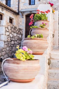 About a year ago, an old building of 1858 was transformed into a olea traditional guesthouse that combines all contemporary comforts. Old Building, Greeks, Planter Pots, Traditional, Contemporary, Country, House, Rural Area, Home