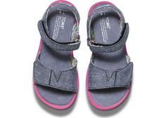 Chambray Tiny TOMS Sandals | TOMS.com
