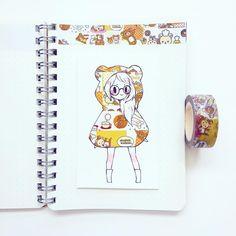 Washi tape drawings