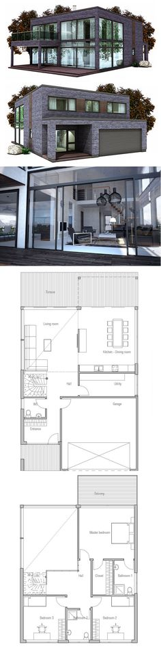 Container House - House Plan, Modern Minimalist Architecture - Who Else Wants Simple Step-By-Step Plans To Design And Build A Container Home From Scratch? Beach House Plans, Modern House Plans, Modern House Design, House Floor Plans, Building A Container Home, Container House Plans, Container Homes, Minimalist Architecture, Architecture Plan