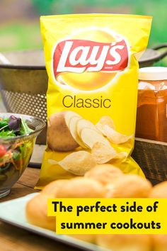 Check off your summer party must-haves: food, friends and family, and Lay's Classic potato chips, the perfect side to summer. Diabetic Recipes, Snack Recipes, Cooking Recipes, Snacks, Ground Meat Recipes, Cookout Food, Getting Hungry, Natural Health Remedies, Junk Food