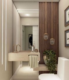 Bathroom Lighting Inspiration, Bathroom Design Inspiration, Bathroom Design Luxury, Modern Bathroom Design, Rustic Bathroom Decor, Rustic Bathrooms, Small Toilet Room, Interior Design And Construction, Toilet Design