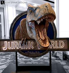 We created this Jurassic World dinosaur photo op to tease the upcoming film at NBCUniversal's trade show booth at the Licensing Expo in Las Vegas.