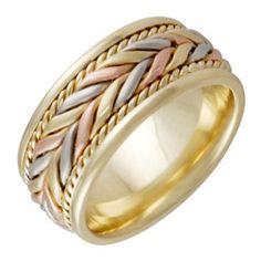 14K Tri Color Gold Braided Fern Style Women's Wedding Band (8mm) Size-4 Wedding Rings Depot http://www.amazon.com/dp/B00EPPFCKY/ref=cm_sw_r_pi_dp_EbsZub1PHGW36