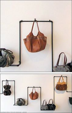 DOSUNO DESIGN Industrial Pipe Purse Display AuxComp