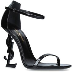 Saint Laurent Patent Opyum Sandals 110 available to buy at Harrods.Shop women's shoes online and earn Rewards points. Black High Heels, Black Shoes, Balmain, Ysl Heels, Buy Shoes, Women's Shoes, How To Make Shoes, Fashion Heels, Women's Fashion