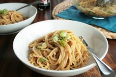 Beyond Easy Sesame Noodles from @Lazy Gluten Free  #glutenfree