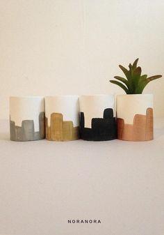 Mini Concrete Planter/ Concrete Pot/ A Set Of 2 3 4/ Mini