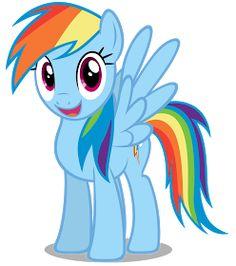My Little Pony Rainbow Dash My Little Pony Party, Cumple My Little Pony, My Little Pony Costume, Little Pony Cake, Rainbow Dash Party, Rainbow Fruit, Raimbow Dash, Imagenes My Little Pony, My Little Pony Characters