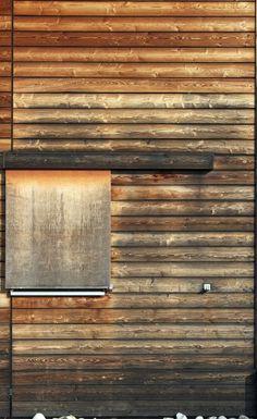 Paroi en bois de vielle maison