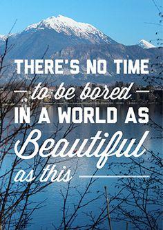 DIY printable typographic travel quote art print by Polkadot Stationery on Etsy