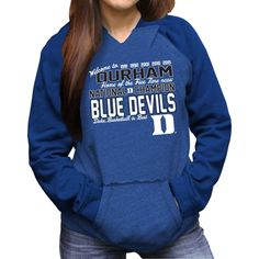 Duke Blue Devils Women s 2015 NCAA Men s Basketball National Champions  Two-Toned Pullover Hoodie - Duke Blue 1212013d8961