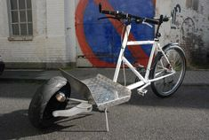 Vorne Roller, hinten MTB: Sports Utility Bike alias Cargo Dragster » Bike-Events, Lastenrad / Cargo-Bike, Stahlrahmen-Hersteller