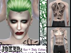 venus-allure's JOKER - FACE + BODY TATTOOS