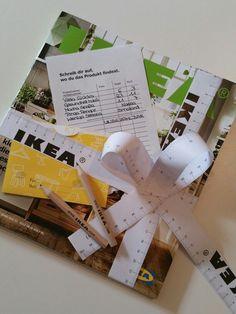 IKEA Gutschein - Geschenkverpackung mit kostenlosen Zubehör von Ikea ♡