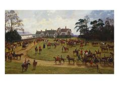 The Cheshire Hunt: the Meet at Calverly Hall