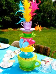I found 'Whimsical Alice in Wonderland/Mad Hatter tea party tea cup centerpiece' on Wish, check it out!