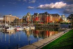 Victoria Harbour, British Columbia, with the Empress Hotel in the background.