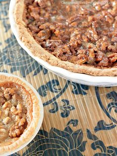 Honey Walnut Pie... sounds so good!