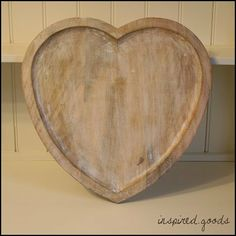 Set Of 4 Rustic White Wooden Heart Shaped Coasters For