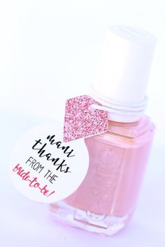 Nail Polish Favor Tags, Thank You Favors, Shower Favor Tags, Bridal Wedding Shower Favor Tags, Diamond Ring Tags, Bachelorette Party Tags by PinkFoxPapercrafts on Etsy https://www.etsy.com/listing/268538937/nail-polish-favor-tags-thank-you-favors