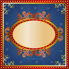 Carnival frame Free Vector