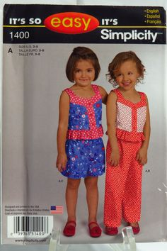 Simplicity 1400 Child's Top, Pants or Shorts