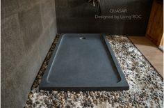 1600mm Grey Granite Shower Tray Stone for Bathroom - QUASAR