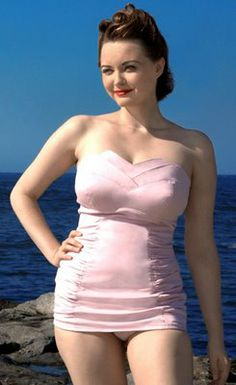 d2e5b7f910be8 Pale Pink Vintage Inspired Swimsuit by PrettySwim on Etsy